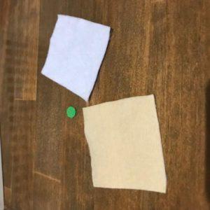 フェルトで子供のおままごとに使うお弁当を作る作り方の手順画像