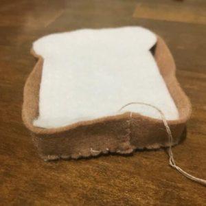フェルトで主食パンを作る作り方の手順画像