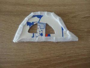 牛乳パックで車(パトカー)を作る作り方の手順画像
