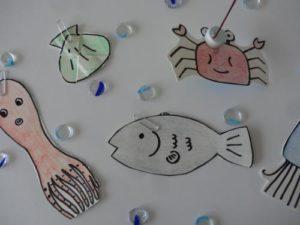 牛乳パックでおもちゃの魚釣りを作る作り方の手順画像