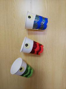 紙コップで鯉のぼりを作る作り方の手順画像
