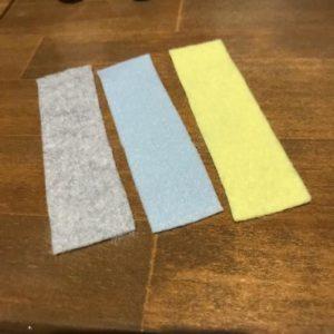 フェルトでぼたんかけの練習ができる知育玩具を手作りで作る作り方の手順画像