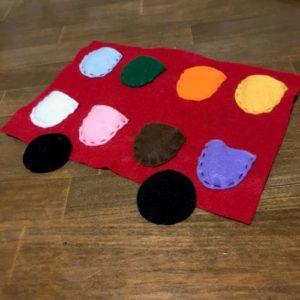 フェルトで色を覚えられるおもちゃ作る作り方の手順画像