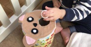 ミルク缶でボットン落としを作る作り方の手順画像