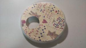ミルク缶でチェーンの引っ張り出す知育おもちゃを作る作り方の手順画像
