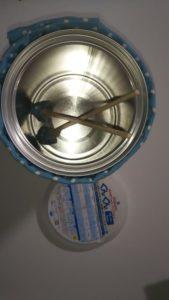 粉ミルク缶の空き缶で太鼓を作る作り方の手順画像