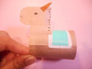 トイレットペーパーの芯で簡単な動物を作る作り方の手順画像