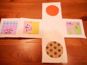 牛乳パックで手作りの積み木を作る作り方の手順画像