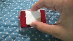 発泡スチロールで手作りスタンプを作る作り方の手順画像